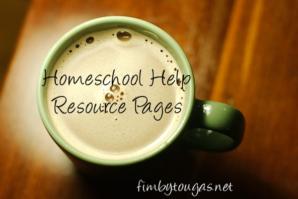 Homeschool Help ~ Resource Pages