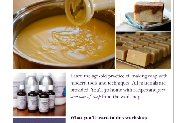 Soapmaking Workshop on the Gaspe Peninsula