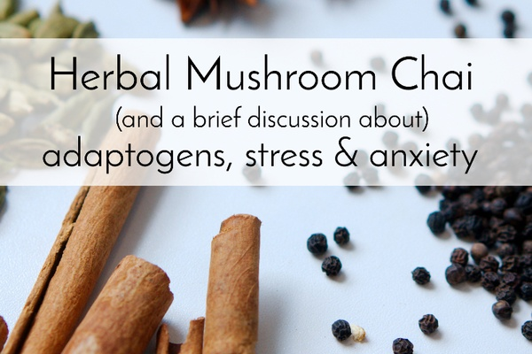 Herbal Mushroom Chai (and some talk about adaptogens, stress, and anxiety)