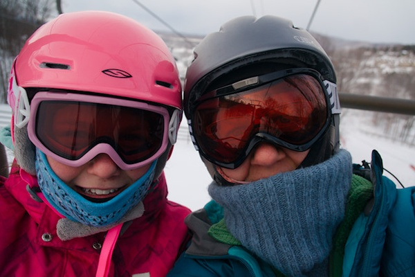 Christmas Stories: First Day of Skiing