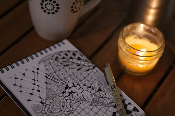 Learn Zentangle drawing