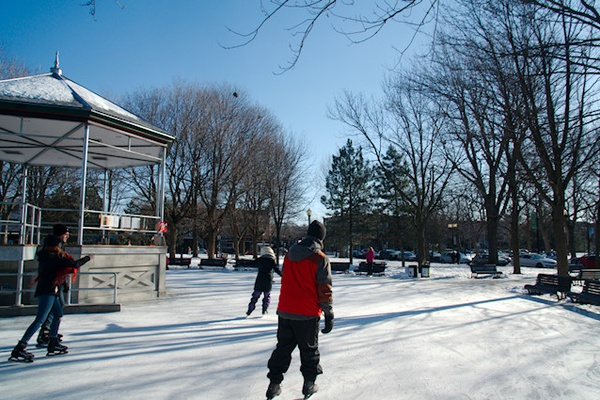 Skating in Montreal