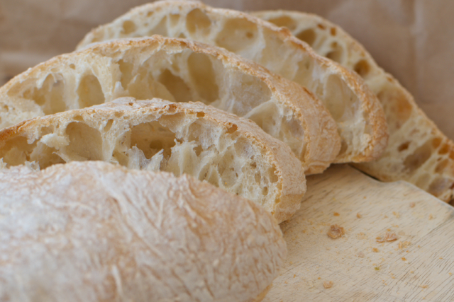 ciabata: totally not whole grain but such a nice treat