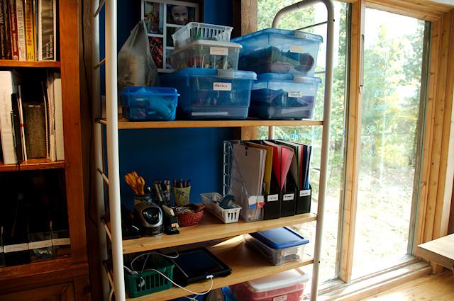 homeschool project shelf