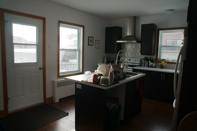 Our apartment kitchen, bathroom, and laundry | Renee Tougas