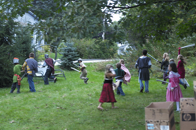 medieval party melee
