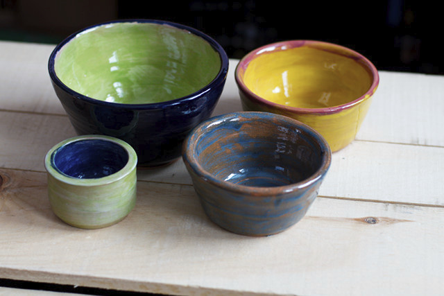 mixed pottery bowls