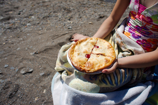 farm pie on the beach